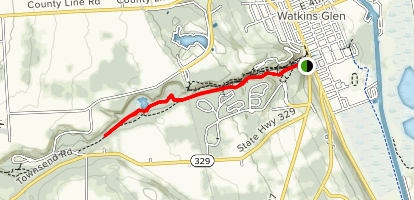 Watkins Glen South Rim Trail Map
