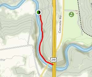 Scoby Dam Trail Map