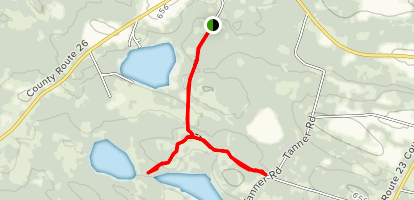 North, South, and Chase Pond Trail Map