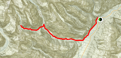 Blue Young Link Track to Gillespie Pass Circuit to Young Hut Map