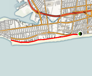 Coney Island and Brighton Beach Boardwalk Trail Map