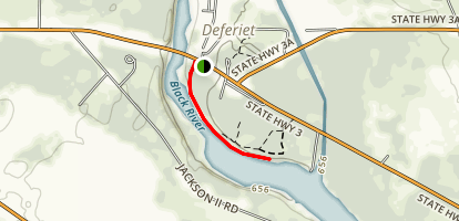 Deferiet Riverfront Trail Map