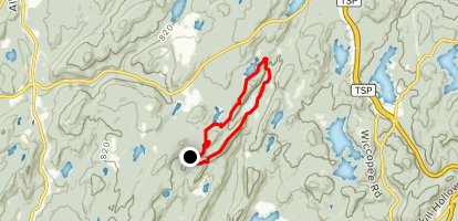 Three Lakes Loop via Appalachian Trail Map