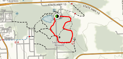 Sapsucker Woods and Wilson Trail Map