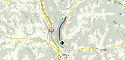 Otselic River and Whitney Point Reservoir Map