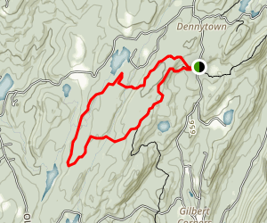 Catfish Loop via Appalachian Trail Map