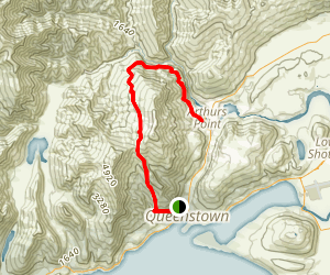 Moonlight Track to Arthurs Point Map