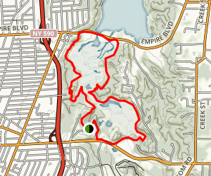 Tryon and Lucien Moren Parks Loop Trail Map