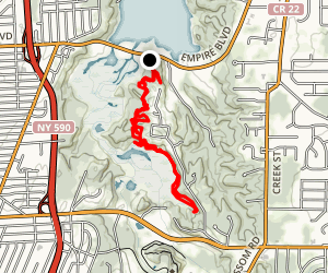 Irondequoit Creek (Ellison Park to Irondequoit Bay) Map