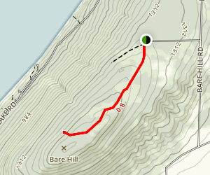 Bare Hill Unique Area Trail Map