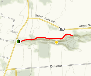 Great Gully Falls Trail Map