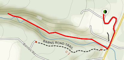 Uplands Hiking Trail Map