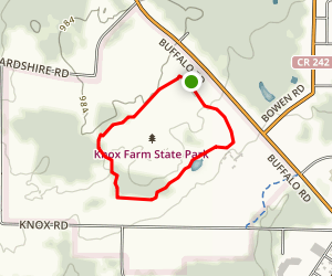 Knox Farm Trail Map