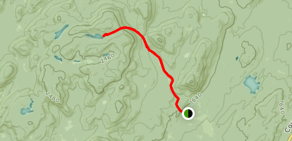The County Line Lakes Trail Map