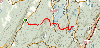 Appalachian Trail: Fitzgerald Falls to Little Dam Lake Map