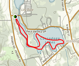 Cassadaga Lakes Map