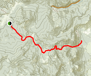Beaver Creek Trail to Marion Gulch Map