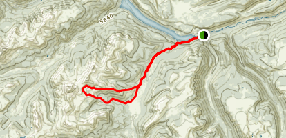 Weminuche Trail to Rincon La Vaca Loop Map