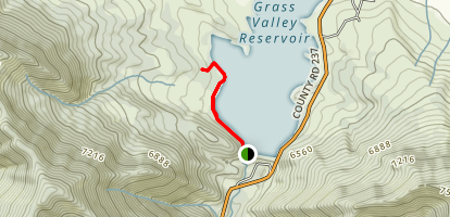 Grass Valley Reservoir Map