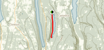 Canadice Lake Walking Path Map