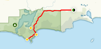 Fanny Cove Track and Shoal Cape Map