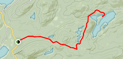 Queer Lake Trail Map