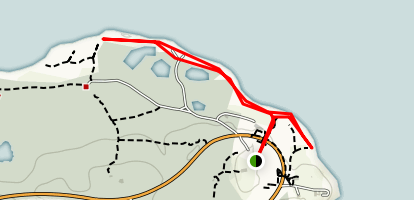 Montauk Point Beach Trail Map