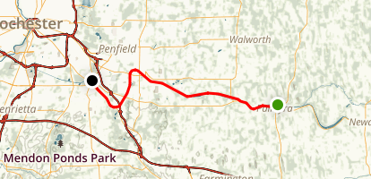 Erie Canalway Trail: Palmyra to Pittsford Map