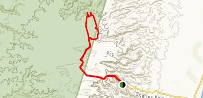 Thomas Carter Lookout and the Badgirrajirra Trail Map