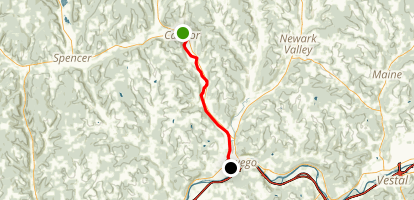 Catatonk Creek: Candor to Owego Map