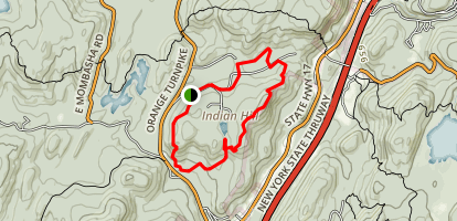 Furnace and Indian Hill Loop Trail Map