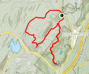 Sterling Forest and Wildcat Mountain Loop Trail Map