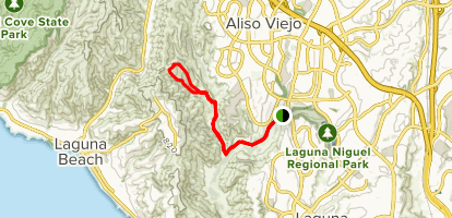 Mathis Canyon and Car Wreck Loop Trail Map