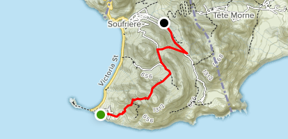Waitukubuli National Trail Segment 1 : Scotts Head to Soufriere Estate Map
