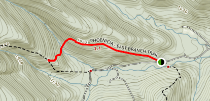 Phoenicia Trail East Branch Map