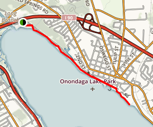 West Shore Trail and Long Branch Park Map