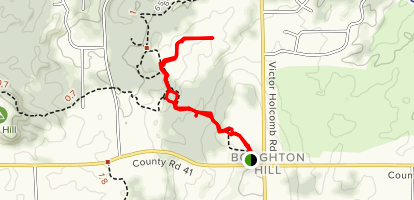 Boughton Hill Trail Map
