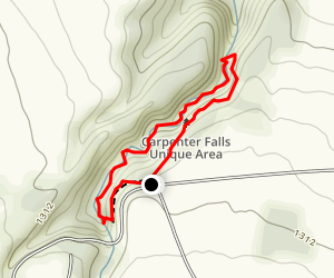 Carpenter Falls (3 falls)  Map
