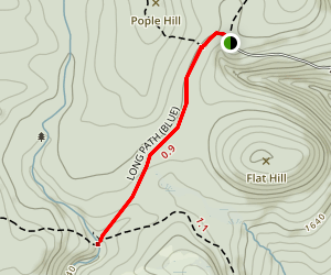 Vernooykill Falls via Long Path Map