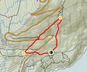 Three Chop Trail to Old Buck Trail Map