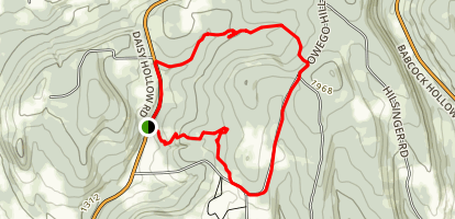 Spanish and Irvin Loop Trails Map