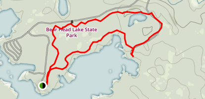 Bear Head Lake State Park Loop Map