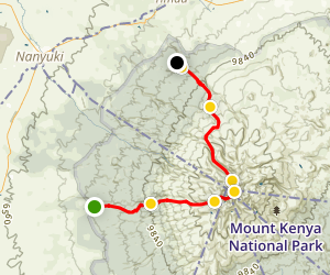 Mount Kenya Summit Map