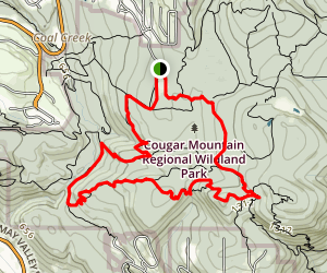 Far Country Lookout and Longview Peak Cougar Mountain Loop Trail Map