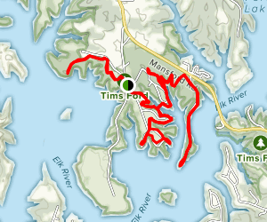 Tims Ford Paved Trail Map