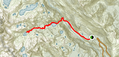 Shadow and Ediza Lakes Trail Map