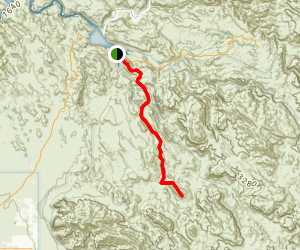 Black Top Mesa Trail via La Barge Creek Map