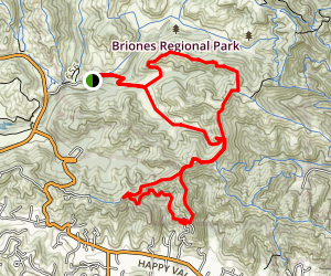Seaborg and Mariposa Loop Trail Map