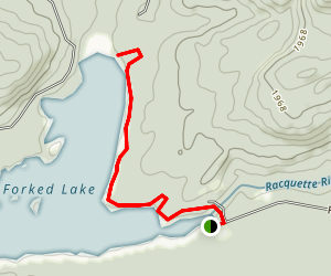 Forked Lake Map