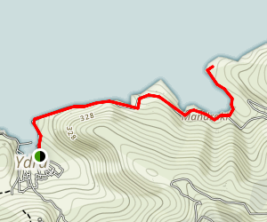 Mandraki Beach Trail Map